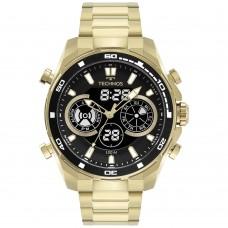Relógio Technos Dourado Anadigi Masculino BJ3530AA/1P