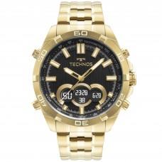 Relógio Technos Dourado Anadigi Masculino BJK629AA/1P