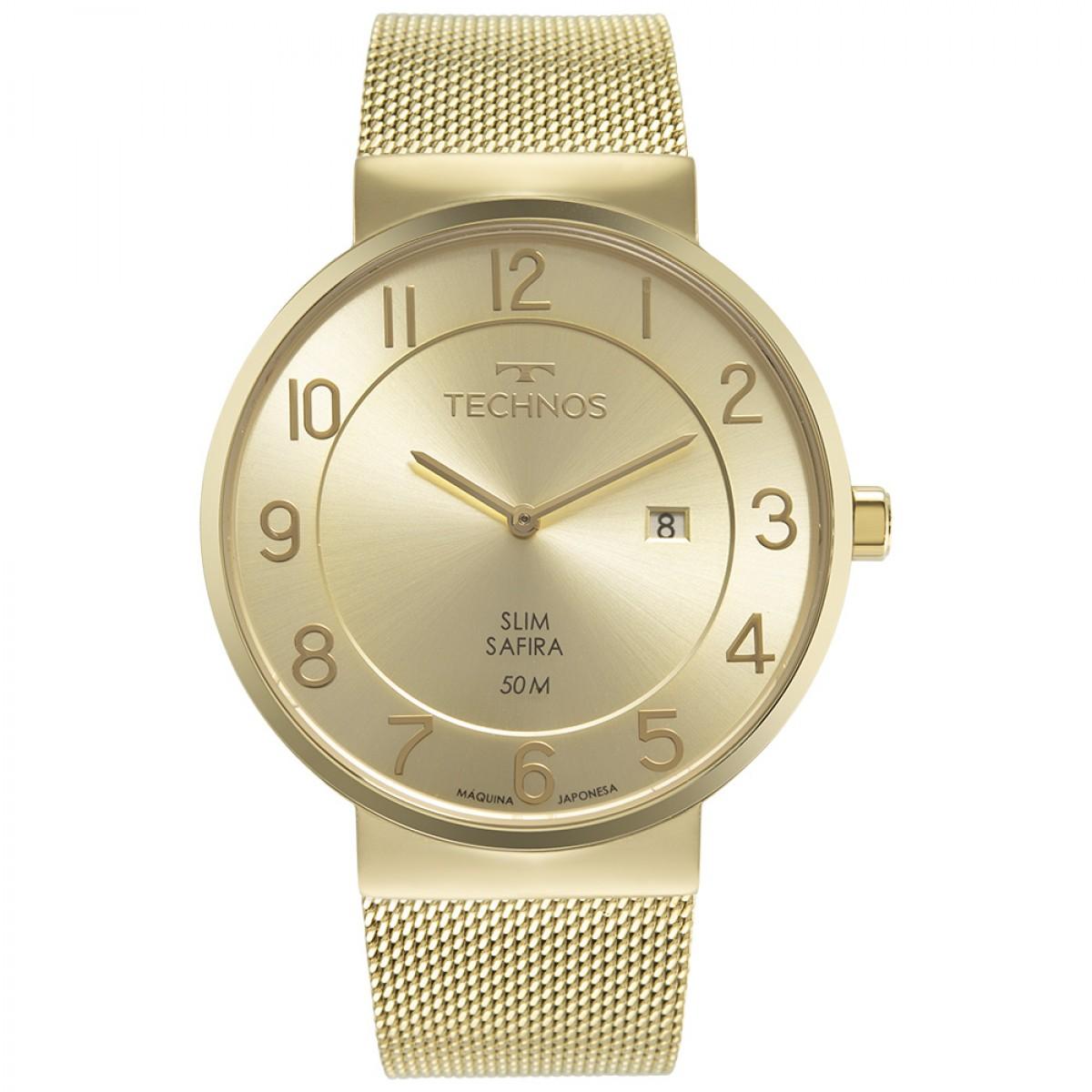 Relógio Technos Dourado Masculino GM15AO/1K
