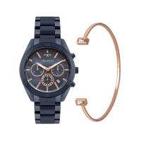 Kit Relógio Technos Azul Feminino JS25BX/K4A
