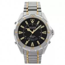Relógio Technos Anadigi Prata e Dourado Masculino WT205FQ/5P
