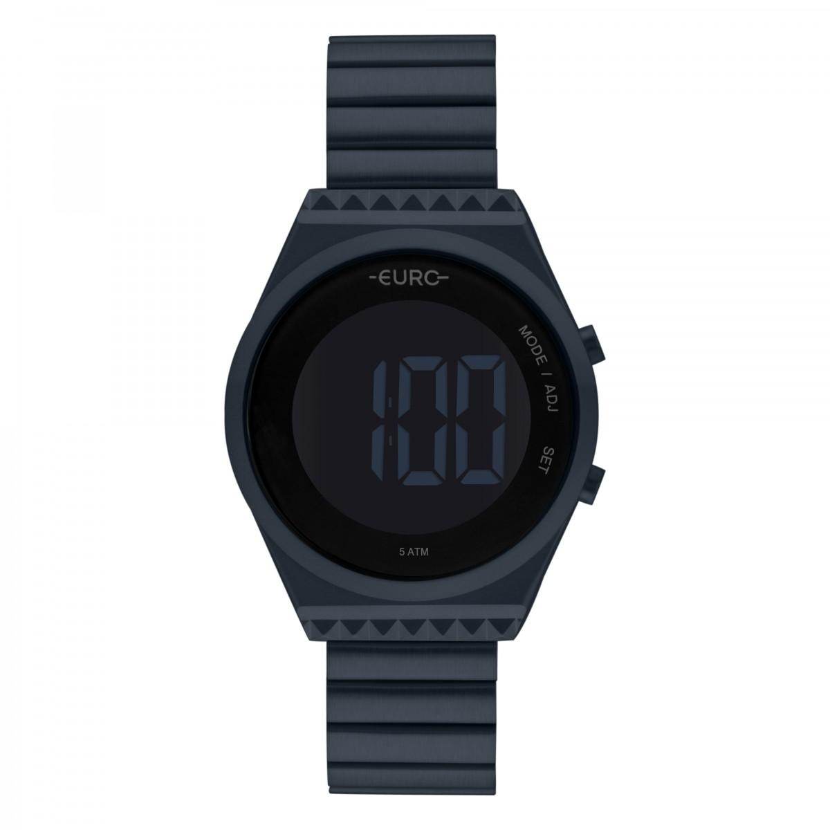 Relógio Euro Digital Azul Feminino EUBJT016AE/4A