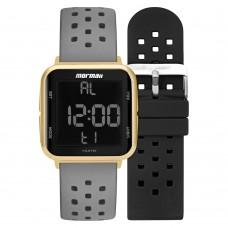 Relógio Mormaii Digital Cinza e Dourado MO6600AI/T8A