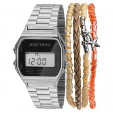 Kit Relógio Mormaii Digital Prata MOJH02AA/K3P **14