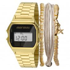 Kit Relógio Mormaii Digital Dourado MOJH02AB/K4P **14