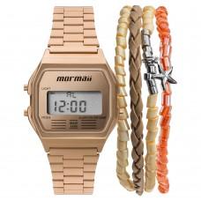 Kit Relógio Mormaii Digital Rosé MOJH02AI/K4J **14