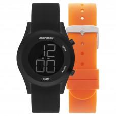 Kit Relógio Mormaii Digital Unissex MOMD1201AE/T8L