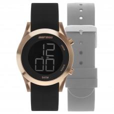 Kit Relógio Mormaii Digital Feminino MOMD1201AG/T8J