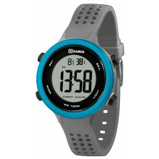 Relógio X-GAMES Digital Cinza e Azul Infantil Unissex XKPPD069 BXGX