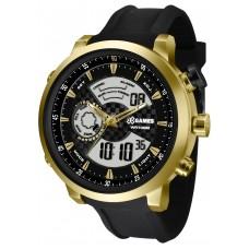 Relógio X-Games Anadigi Preto e Dourado XMSPA018 P2PX