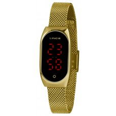 Relógio Lince Digital Dourado LDG4641L PXKX