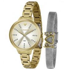 Kit Relógio Lince Dourado Feminino LRG4667L KY12C1KX