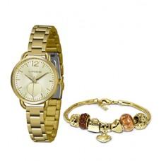 Kit Relógio Lince Dourado Feminino LRGH120L KX06C2KX