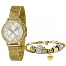 Kit Relógio Lince Dourado Feminino LRGH149L KY48S1KX