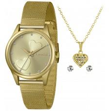 Kit Relógio Lince Dourado Feminino LRGJ115L KY69C1KX