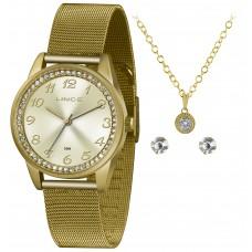 Kit Relógio Lince Dourado LRGJ118L KY77C2KX