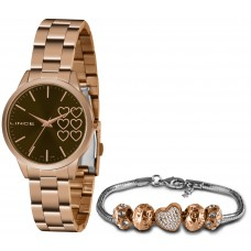 Kit Relógio Lince Rosé Feminino LRR4681L KN13M1RX