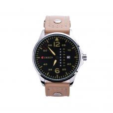 Relógio Masculino Curren Analógico 8224 Bege, Prata e Preto