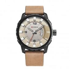 Relógio Masculino Curren Analógico 8245 Bege e Preto