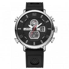 Relógio Masculino Weide Anadigi WH-6106 Preto e Prata