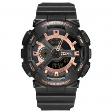 Relógio Masculino Weide AnaDigi WA3J8004 – Preto e Rosê ****