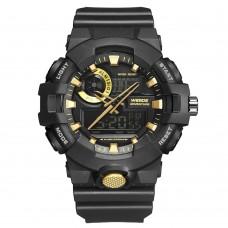 Relógio Masculino Weide AnaDigi WA3J8007 – Preto e Dourado ****