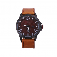Relógio Masculino Curren Analógico 8253 Marrom e Preto