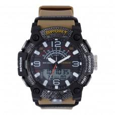 Relógio Masculino Weide AnaDigi WA3J9001 – Marrom e Preto ****