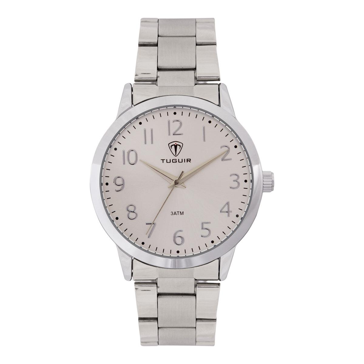 Relógio Feminino Tuguir Analógico TG116 – Prata ****