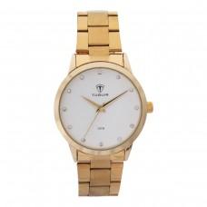 Relógio Feminino Tuguir Analógico TG114 Dourado e Branco