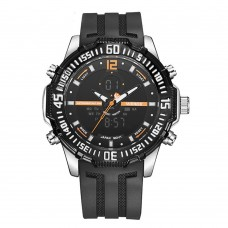 Relógio Masculino Weide Anadigi WH-6105 Preto e Laranja