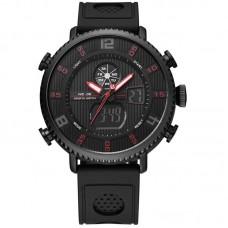 Relógio Masculino Weide AnaDigi WH-6106 Preto e Vermelho