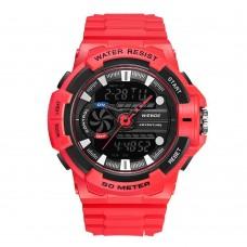 Relógio Masculino Weide Anadigi WA3J8009 Vermelho