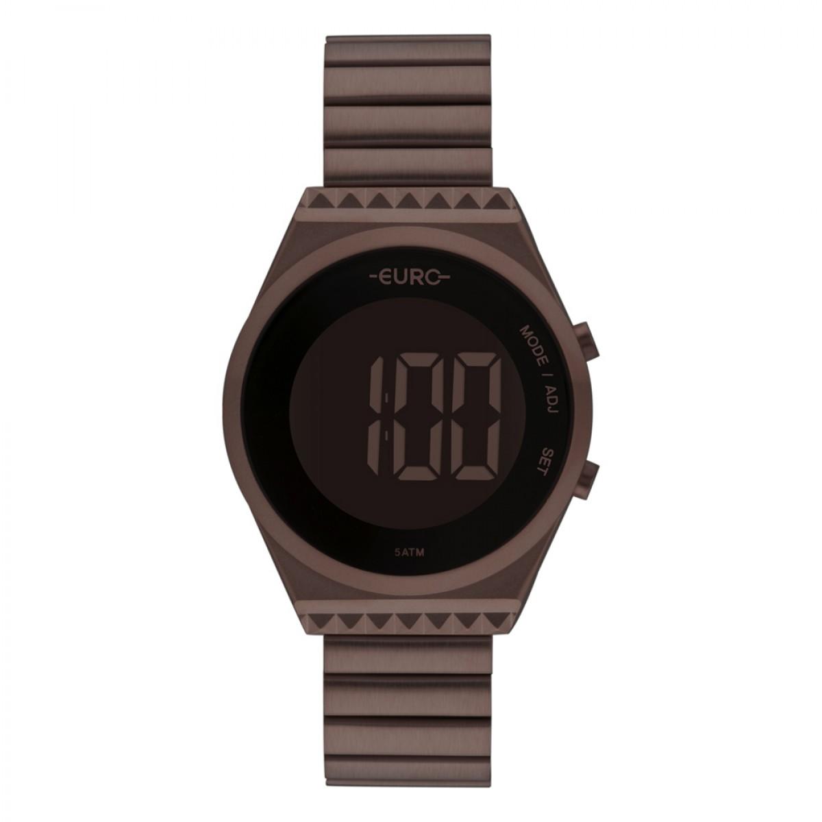 Relógio Euro Digital Marrom Feminino EUBJT016AF/4M