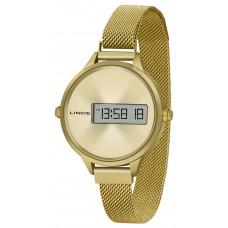 Relógio Lince Digital Dourado SDG4635L CXKX
