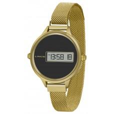 Relógio Lince Digital Dourado SDG4637L PXKX